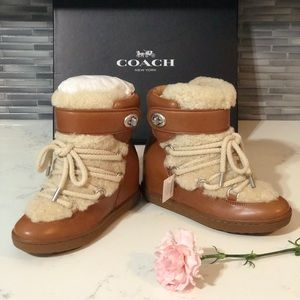 New in box Coach Wedge Bootie